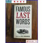 【二手9成新】Famous Last Words, Fond Farewells, Deathbed Dia