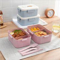 便携可爱小麦纤维饭盒办公室学生可微波加热密封保鲜饭盒