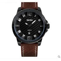 大表盘男士防水个性石英手表指针皮带潮流时尚商务简约男表