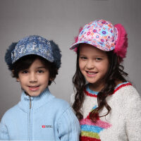 kenmont儿童冬帽子 可爱阿拉蕾护耳棒球帽冬季男童女童鸭舌帽5914