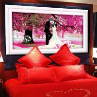 菲绣绣艺钻石十字绣 客厅大画大幅 樱花树下的浪漫婚礼 结婚圆钻贴钻画 婚庆卧室挂画