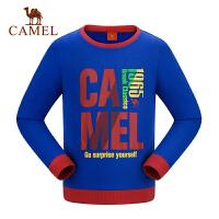camel骆驼童装秋冬季男童卫衣儿童套头休闲加厚微弹打底衫