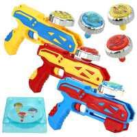 新款陀螺玩具陀螺枪发射器儿童陀螺男孩玩具闪光合金陀螺对战陀螺