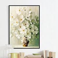 墨菲 有框画帆布画单幅装饰画展厅大厅书房客厅玄关过道现代沙发背景墙画花卉壁饰壁画挂画