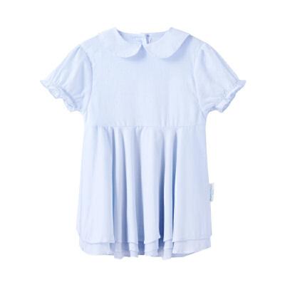 全棉时代 白色幼儿男款针织排纱间罗纹口外套件装