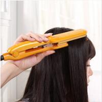 春笑牌 新款直发器烫发器 神奇卷发棒 卷发器 调温直发器不伤发神器 玉米烫电夹板 ZF05 黄色