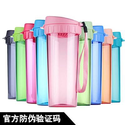 特百惠水杯500ml 茶韵随手杯便携塑料杯子运动水壶学生儿童杯茶杯 500ML专柜正品,支持特百惠会员扫码积惠金币