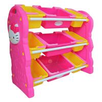 麦宝创玩Hello Kitty 凯蒂猫幼儿园塑料柜 宝宝玩具收纳架 儿童玩具储物置物架
