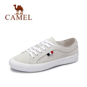 Camel/骆驼女鞋 春季新品 简约风单鞋 清新系带休闲女鞋
