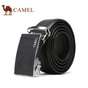 Camel骆驼男士腰带商务休闲牛皮自动扣皮带男中青年男版裤带