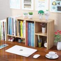 老睢坊 桌面省空间 简易书架桌上置物架 学生用宿舍书柜儿童书桌面收纳