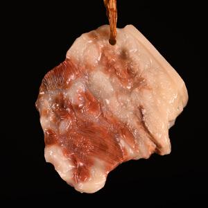 《五花肉寿山写实摆件》结晶寿山石取巧全手工精雕