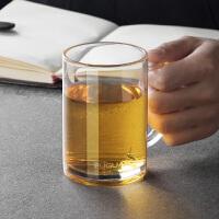 加厚耐热茶杯手柄套装创意玻璃杯透明双层杯子水杯