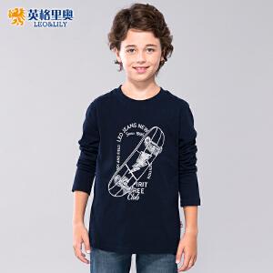 恤中大童休闲纯棉印花打底衫儿童长袖T恤