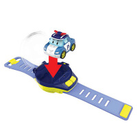 电动玩具迷你手表带遥控警车男孩遥控萌宠表带电动车