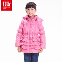 季季乐童装 冬季女童棉衣儿童中长款冬保暖棉袄外套GDA3294