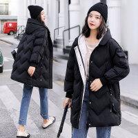 孕妇韩版大码棉衣怀孕期棉袄中长款孕后期宽松冬季外套