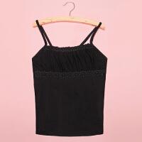 【支持礼品卡支付】春夏女式网纱蕾丝吊带 韩版修身性感打底衫 SMZ-8835