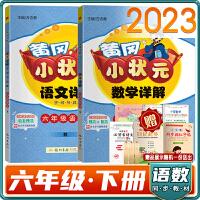 2021春黄冈小状元详解语文数学六年级下册2本套装人教版RJ同步教材全解六年级语数