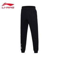 李宁卫裤男士运动时尚系列保暖休闲男装冬季收口运动裤AKLM715
