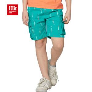 jjlkids季季乐童装男童夏季休闲舒适短裤百搭透气五分裤中大童裤薄款