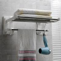 双庆     第三代吸盘浴巾架不锈钢吸盘毛巾架60cm浴室吸盘毛巾架1906
