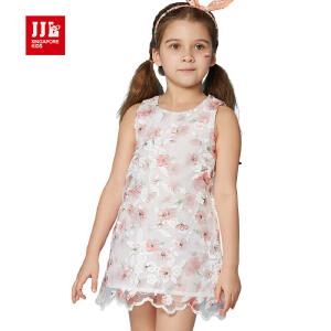 jjlkids季季乐童装女童舒适休闲夏季连衣裙中小童薄款