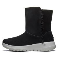 Skehers斯凯奇女靴保暖雪地靴时尚甜美荷叶边中筒靴