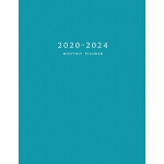 预订 2020-2024 Monthly Planner: Large Five Year Planner with