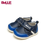 【79元任选2双】百丽Belle童鞋18新款婴童皮鞋男童宝宝时装鞋透气学步鞋(0-4岁可选)CE5819