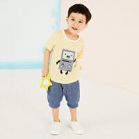 【秒杀价:49元】马拉丁童装男小童短袖T恤卡通图案