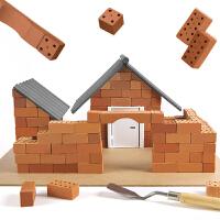弥鹿(MiDeer)儿童DIY仿真建筑房屋迷你砖瓦手工3D立体搭建模型玩具