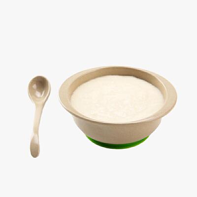 【618年中庆,每满100减50】当当优品 壳氏唯稻壳环保儿童餐具套装宝宝婴儿辅食吸盘碗勺 (草绿)当当自营 稻壳材质 健康环保 高密度不藏菌 食品级硅胶底座  做工精细 时尚简约