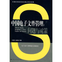 中国电子文件管理:问题与对策(中国科学技术协会重点项目成果)