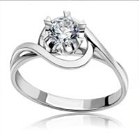 梦克拉 pt950钻戒钻石结婚戒指醉爱54分 可礼品卡购买