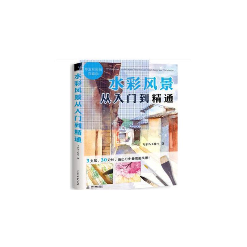 水彩教程书 水彩风景从入门到精通飞乐鸟 水彩书籍教材水彩的诀窍 水彩基础教程书籍 素描入门到精通 美术基础教程 绘画自学零基础