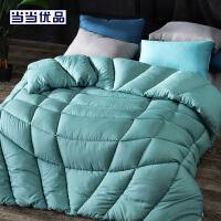 当当优品纤维被 保暖羽丝绒冬被春秋被芯 双人加大被子220*240cm 绿色