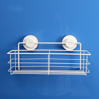 韩国dehub 吸盘不锈钢300矮瓶架 调料架 调味瓶架收纳架 厨房置物架壁挂 白色