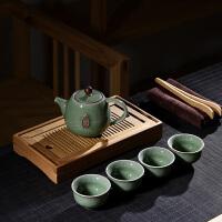 竹制茶盘茶壶茶杯茶功夫茶具家用简约现代客厅办公室整套茶具套装