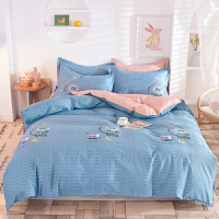 邦尼杰家纺 纯棉四件套 全棉套件床上用品被罩双人床单被套200*230cm 1.5/1.8米床
