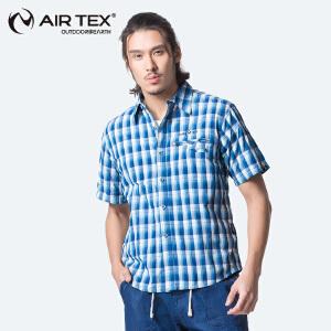 AIR TEX 亚特夏季速干防紫外线透气吸湿排汗短袖男式速干衣