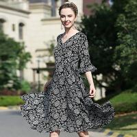 CITYSAILOR女装真丝中长裙 显瘦真丝连衣裙中长裙