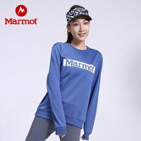 【开学季】Marmot/土拨鼠户外运动男女中性轻量透气圆领套头情侣针织卫衣