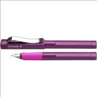 德国进口施耐德(Schneider)钢笔 经典Base系列果莓色 (F尖钢笔+6支蓝色墨胆+吸墨器)签字笔水笔经典女士