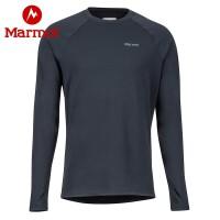 Marmot/土拨鼠运动户外男士舒适透气休闲运动长袖T恤