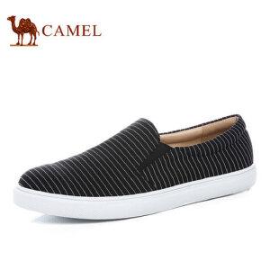 【跨店每满200减100】camel骆驼男鞋 新品 时尚休闲透气低帮帆布鞋男潮鞋滑板鞋