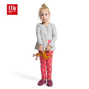 季季乐春秋季童装女宝宝休闲套装舒适可爱两件套PGQZ51073