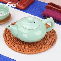 家用陶瓷单壶花小冲茶壶红茶杯泡茶器青瓷茶具玻璃水壶泡茶壶套装