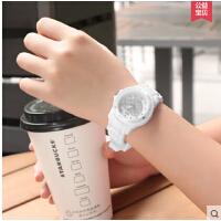 韩版水钻硅胶表带 儿童小孩女孩女童手表 大童13/14岁小学生石英表