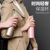 创意不锈钢弹跳杯盖车载韩版学生保温杯女士便携家用水杯